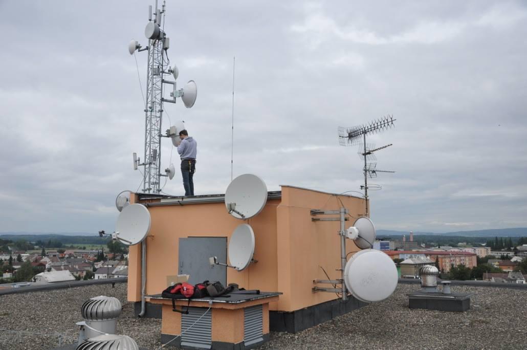 Jeden z vysílačů v Litovli
